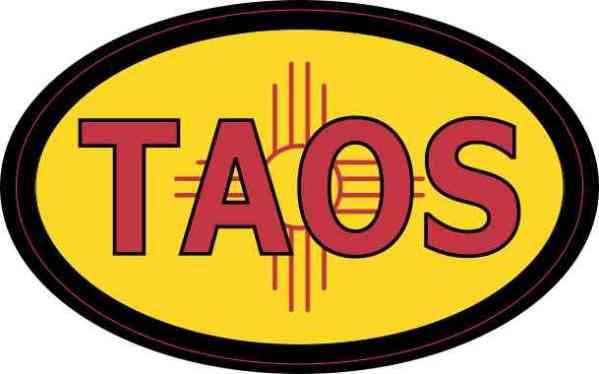 Oval New Mexico Flag Taos Sticker