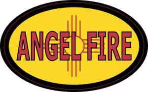Oval New Mexico Angel Fire Sticker