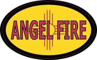 Oval New Mexico Angel Fire Sticker