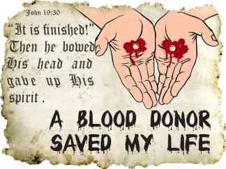 Blood Donor Saved My Life Sticker