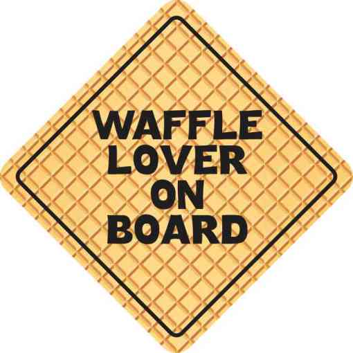 Waffle Lover on Board Magnet