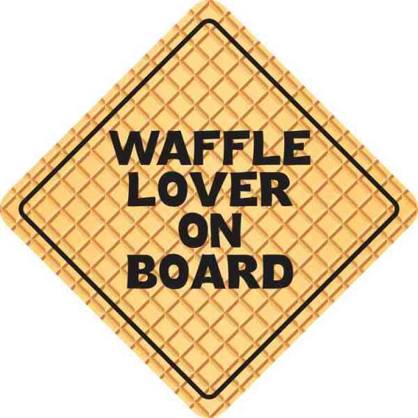 Waffle Lover on Board Sticker