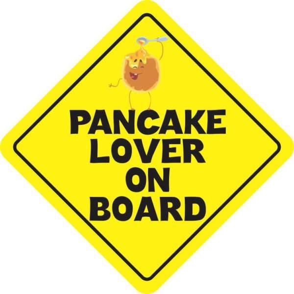 Pancake Lover on Board Sticker