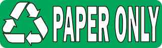 Paper Only Permanent Vinyl Sticker