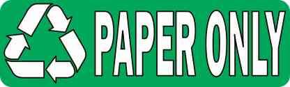 Paper Only Permanent Vinyl Sticker