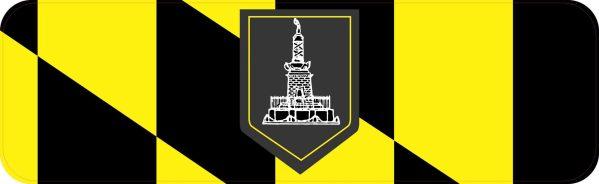 Baltimore Flag Bumper Sticker