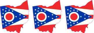 Die Cut Ohio Stickers