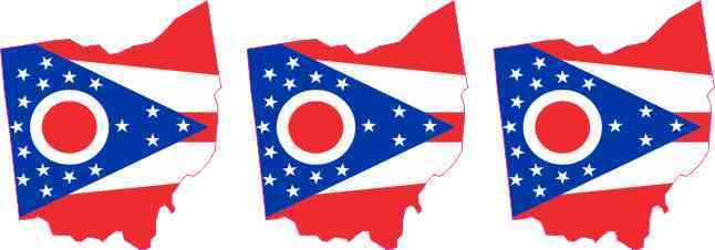 Die Cut Ohio Stickers