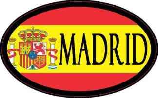Oval Spanish Flag Madrid Sticker