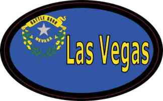 Oval Nevada Flag Las Vegas Sticker