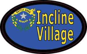 Oval Nevada Flag Incline Village Sticker