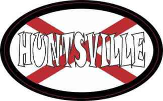 Oval Alabaman Flag Huntsville Sticker