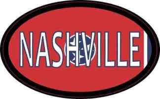 Oval Tennessee Flag Nashville Sticker