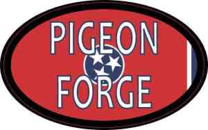 Oval Tennessee Flag Pigeon Forge Sticker