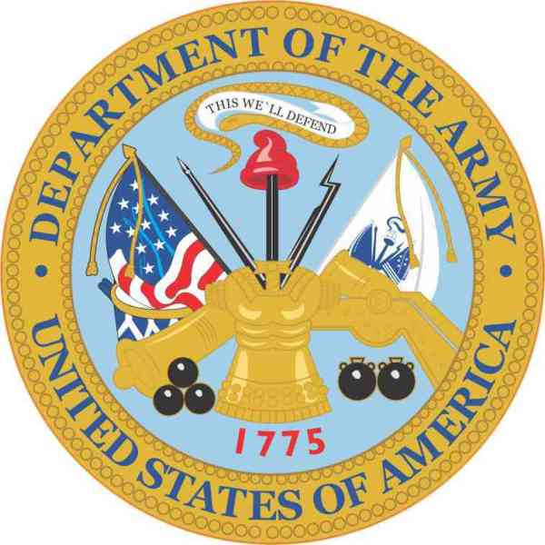 Department of the Army Seal Sticker