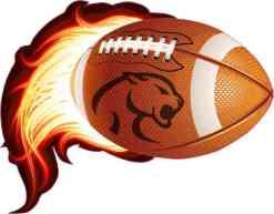 Cougar Flame Football Sticker