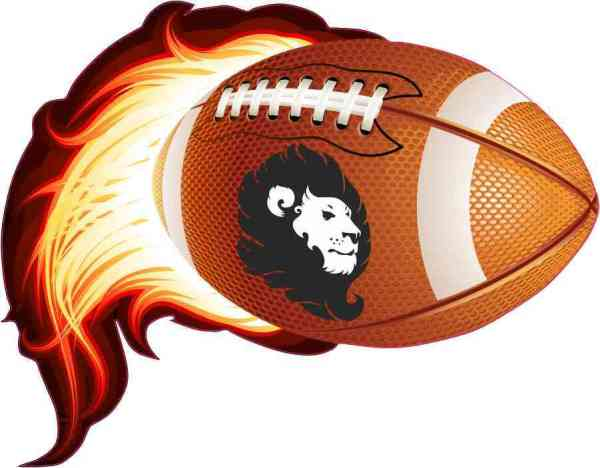 Lion Flame Football Sticker