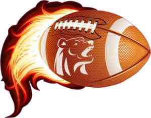 Bear Flame Football Sticker