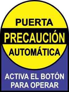 Activa El Botón Puerta Automática Sticker