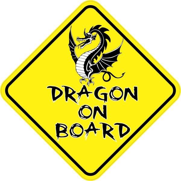 Dragon On Board Magnet