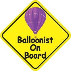 Balloonist on Board Sticker
