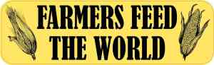 Corn Farmers Feed the World Magnet