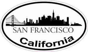 Skyline Oval San Francisco Sticker