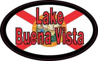 Oval Florida Flag Lake Buena Vista Sticker