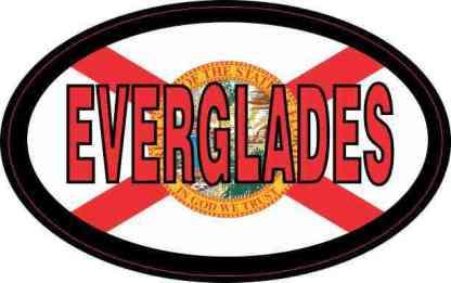 Flag Oval Everglades Sticker