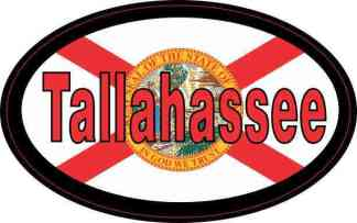 Oval Florida Flag Tallahassee Sticker