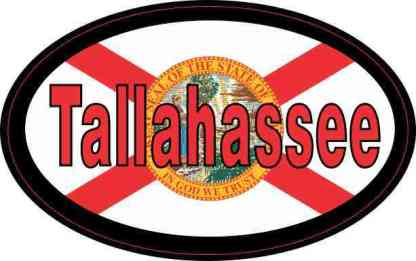 Oval Florida Flag Tallahassee Sticker