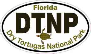 Picture Oval Dry Tortugas National Park Sticker