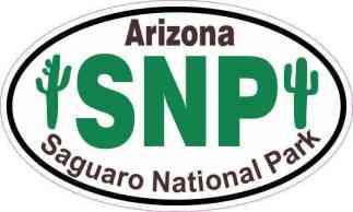 Cactus Oval Saguaro National Park Sticker