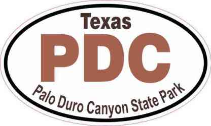 Oval Palo Duro Canyon State Park Sticker