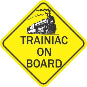 Trainiac On Board Magnet