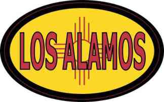 Oval New Mexico Flag Los Alamos Sticker