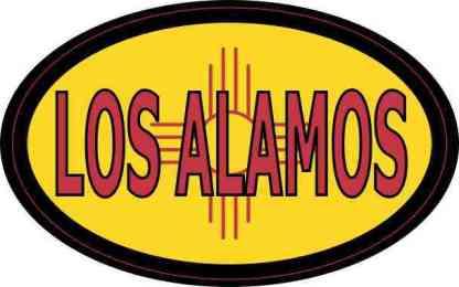 Oval New Mexico Flag Los Alamos Sticker