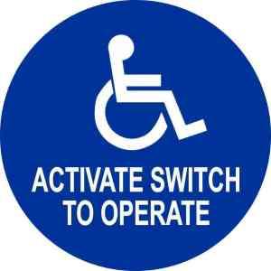 Activate Switch to Operate Handicap Sticker