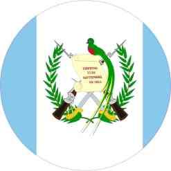 Round Guatemala Flag Sticker