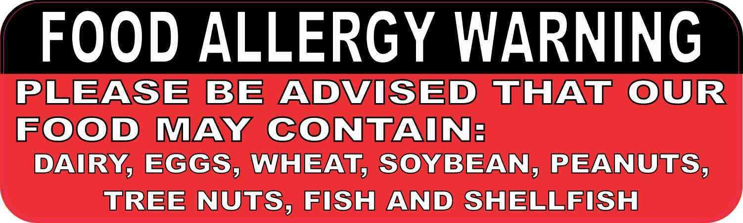 Food Allergy Warning Magnet