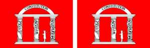 1861 Georgia State Flag Magnets