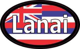 Oval Hawaii Flag Lanai Sticker