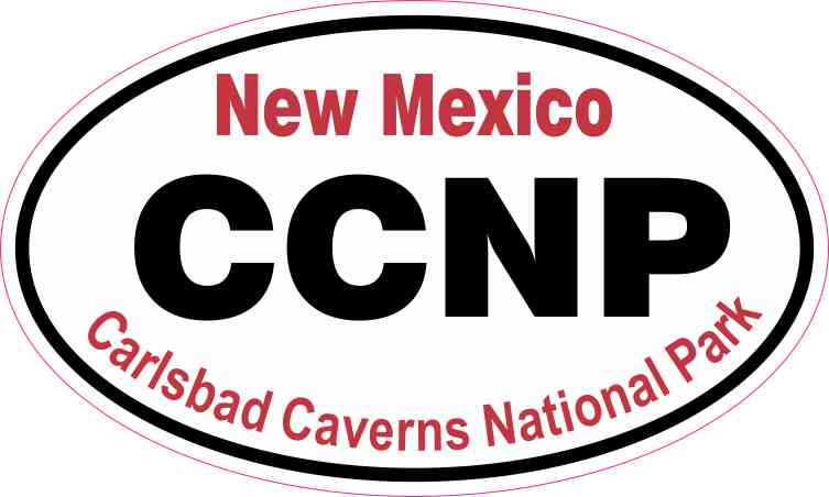 Oval Carlsbad Caverns National Park Sticker