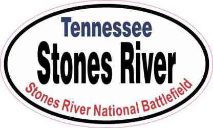 Oval Stones River Sticker