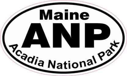 Oval Acadia National Park Sticker