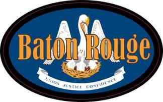 Oval Louisiana Flag Baton Rouge Sticker