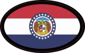 Oval Missouri Flag Sticker