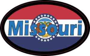 Flag Oval Missouri Sticker