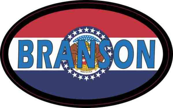 Oval Missouri Flag Branson Sticker