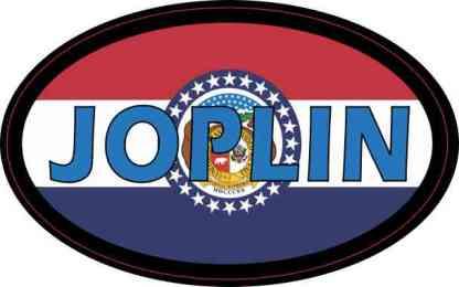Oval Missouri Flag Joplin Sticker